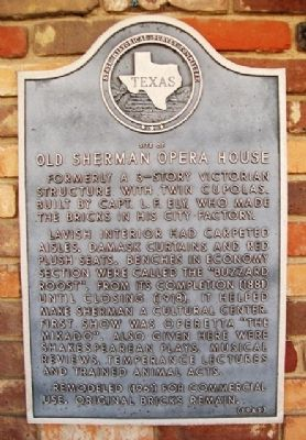Site of Old Sherman Opera House Marker image. Click for full size.
