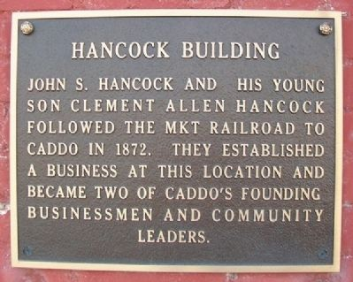 Hancock Building Marker image. Click for full size.