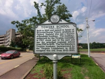 Towers School Marker image. Click for full size.