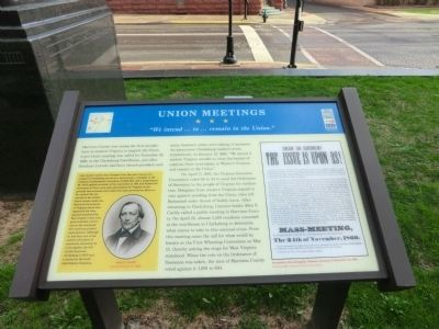 Union Meetings Marker image. Click for full size.