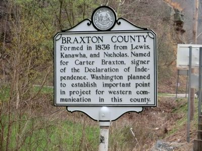 Braxton County-Gilmore County Marker-Side 1 image. Click for full size.