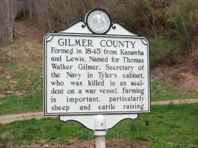 Braxton County-Gilmore County Marker-Side 2 image. Click for full size.