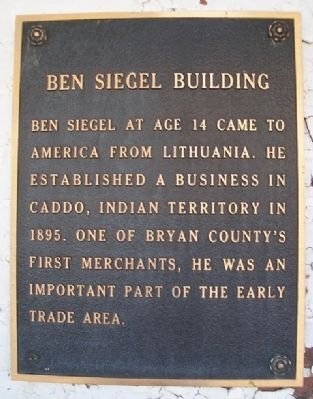 Ben Siegel Building Marker image. Click for full size.