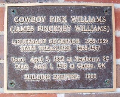 Cowboy Pink Williams Marker image. Click for full size.