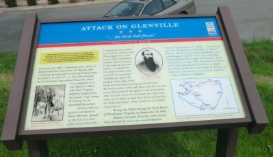 Attack on Glenville Marker image. Click for full size.