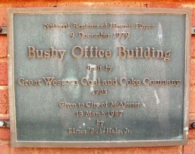 Busby Office Building Marker image. Click for full size.