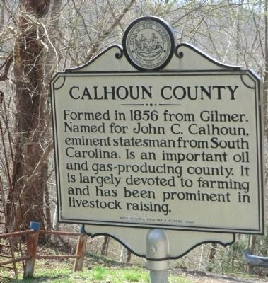 Calhoun County side of the marker image. Click for full size.