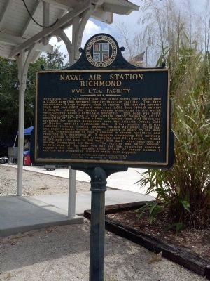 Naval Air Station Richmond Marker image. Click for full size.