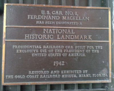 U.S. Car No. 1, Ferdinand Magellan Marker image. Click for full size.