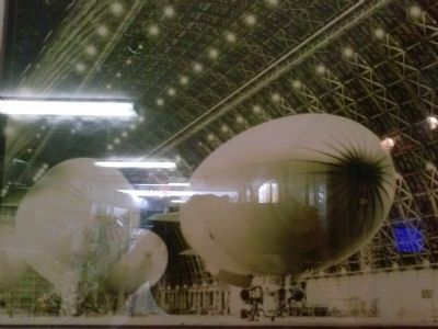 Blimps inside hanger at NAS Richmond, ca. 1944. image. Click for full size.