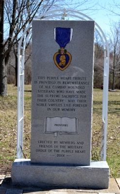 Purple Heart Tribute Memorial image. Click for full size.