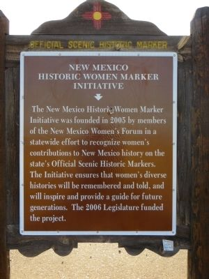 <i>Side B:</i> New Mexico Historic Women Marker Initiative Marker image. Click for full size.