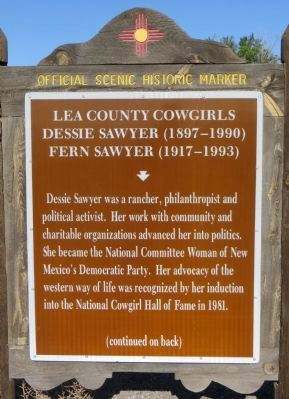 Lea County Cowgirls Marker image. Click for full size.