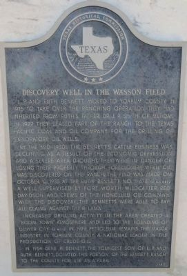 Discovery Well in the Wasson Field Marker image. Click for full size.