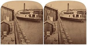 The <i>El Capitan</i>, the largest ferry on the Bay in the 1870s. image. Click for full size.