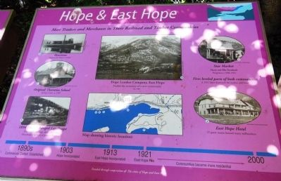 Hope & East Hope Marker image. Click for full size.