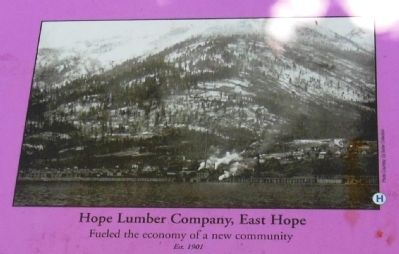 Hope Lumber Company inset image. Click for full size.