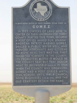 Gomez Marker image. Click for full size.