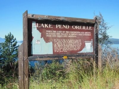 Lake Pend Oreille Marker (<i>wide view</i>) image. Click for full size.