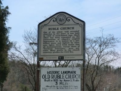 Ruble Church Marker image. Click for full size.