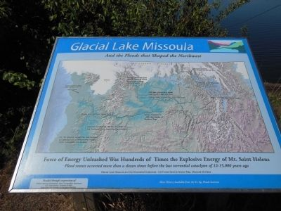 Glacial Lake Missoula Marker image. Click for full size.