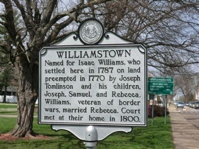 Williamstown Marker image. Click for full size.