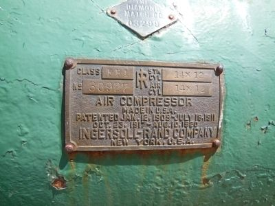 Compressor Label image. Click for full size.