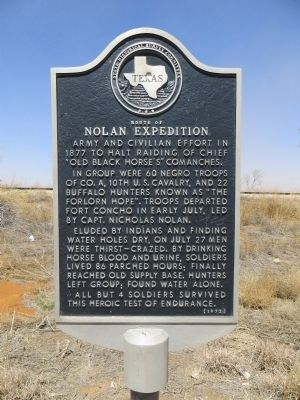 Route of Nolan Expedition Marker image. Click for full size.