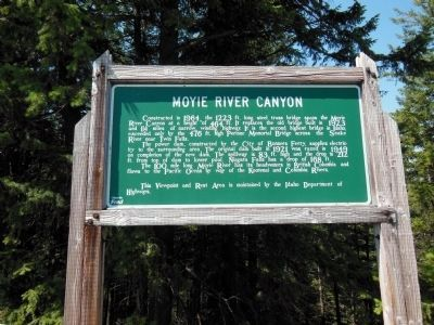 Moyie River Canyon Marker (<i>wide view</i>) image. Click for full size.