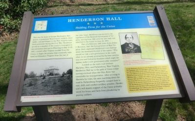 Henderson Hall Marker image. Click for full size.