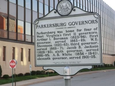 West Virginia's First Governor-Parkersburg Governors Marker image. Click for full size.