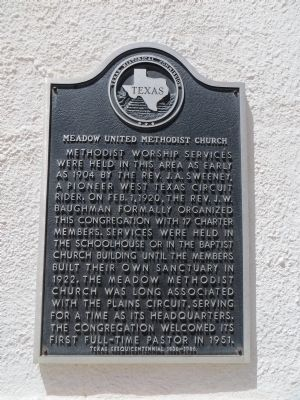 Meadow United Methodist Church Marker image. Click for full size.