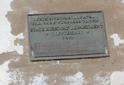 Dedication plaque at site of Primrose School Marker image. Click for full size.
