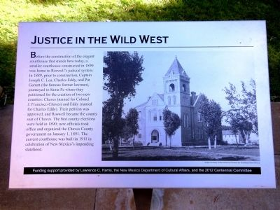 Justice in the Wild West Marker image. Click for full size.