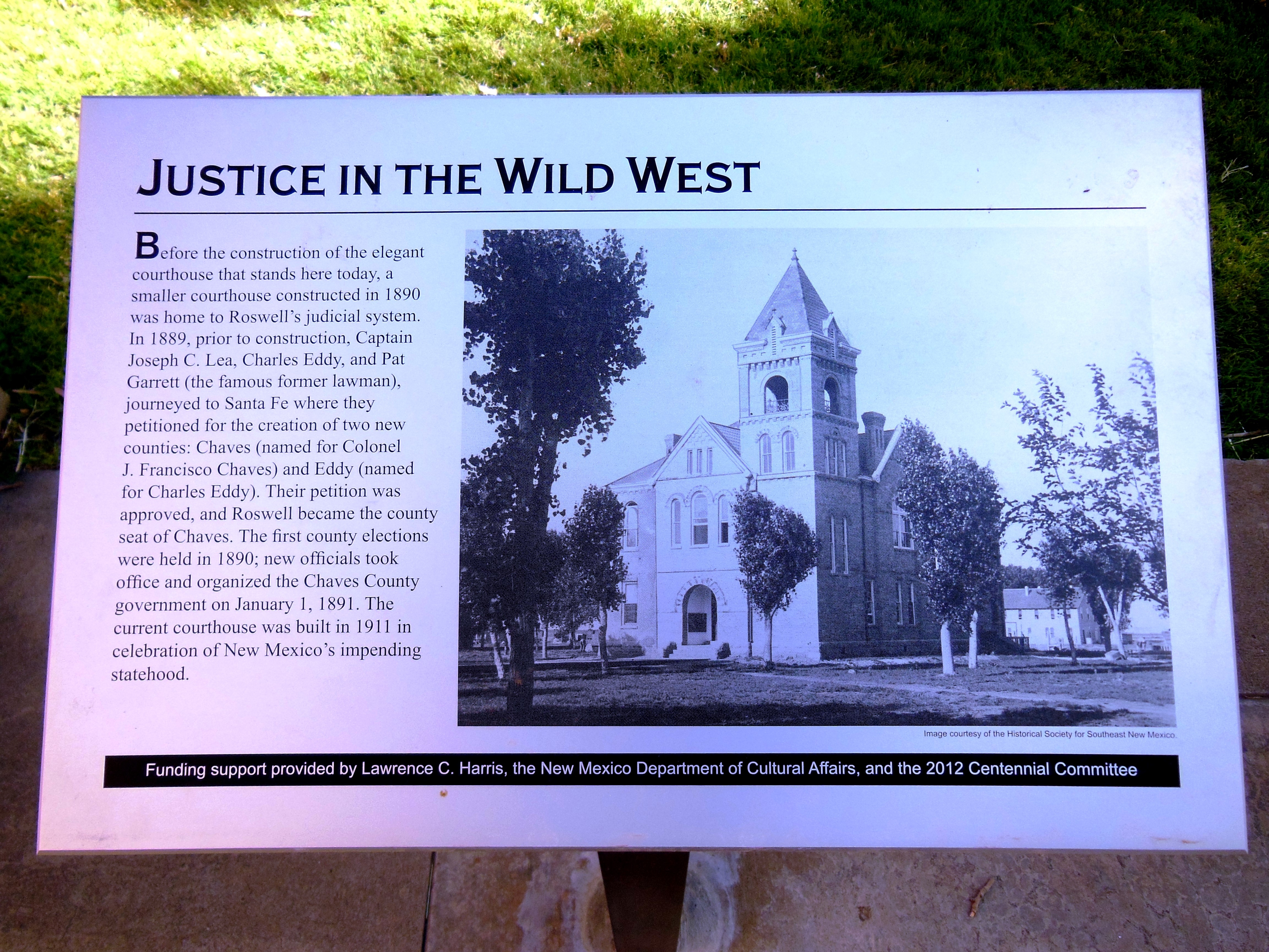 Justice in the Wild West Marker
