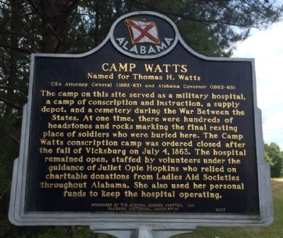 Camp Watts Marker image. Click for full size.