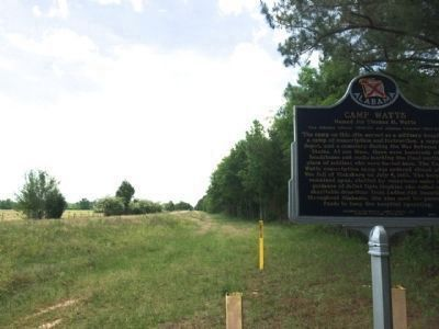 Camp Watts Marker Area image. Click for full size.
