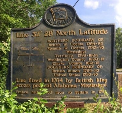 Line 32° 28´ North Latitude Marker image. Click for full size.