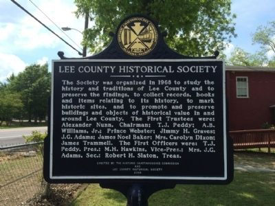 Lee County Historical Society Marker image. Click for full size.