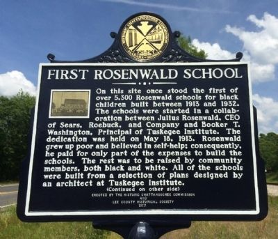 First Rosenwald School Marker image. Click for full size.