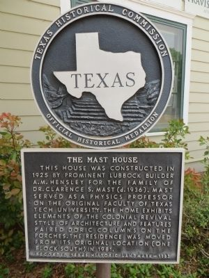 The Mast House Marker image. Click for full size.