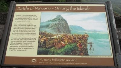 Battle of Nu'uanu – Uniting the Islands Marker image. Click for full size.
