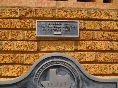 Plaque above Lubbock High School Marker image. Click for full size.