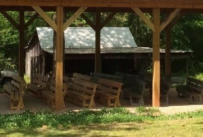 Blacksmith Shop and meeting pavilion image. Click for full size.