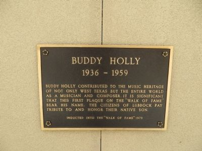 Buddy Holly Marker image. Click for full size.
