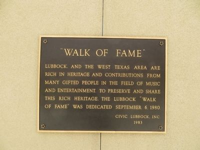 Walk of Fame Marker image. Click for full size.