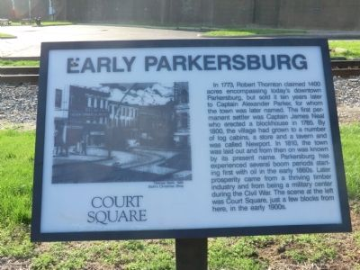 Early Parkersburg Marker image. Click for full size.