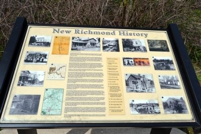 New Richmond History Marker image. Click for full size.
