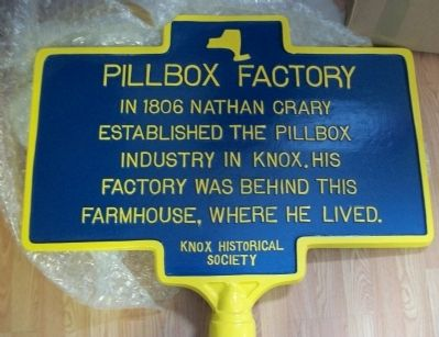 Pillbox Factory Marker image. Click for full size.