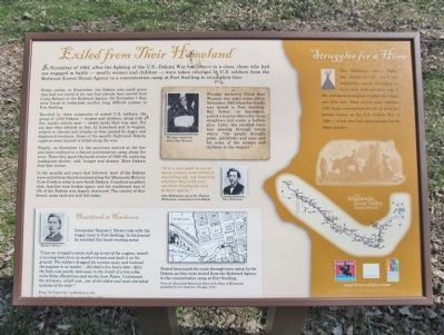 Exiled from Their Homeland Marker image. Click for full size.